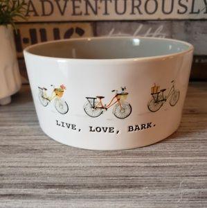 NEW Rae Dunn LIVE, LOVE, BARK Pet Bowl